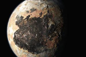 Pluto vedecká ilustrácia
