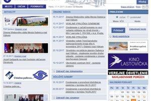 Webstránka Dubnice nad Váhom.