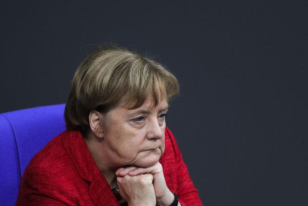 Kancelárka Merkelová.