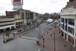 Boston je takmer ľudoprázdny. Autor: TASR/AP
