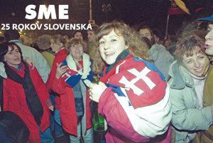 Oslavy vzniku Slovenskej republiky v Bratislave.