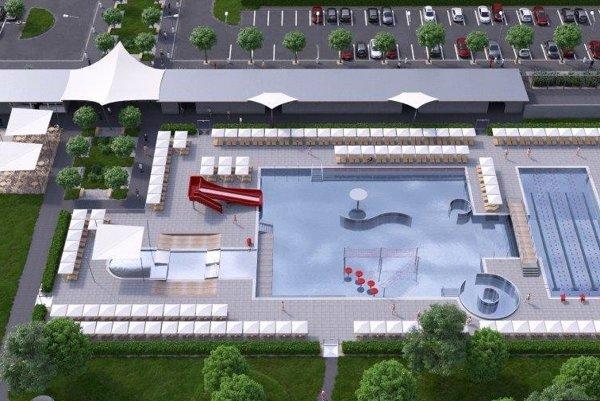 Bazén má byť rozdelený na dve časti.