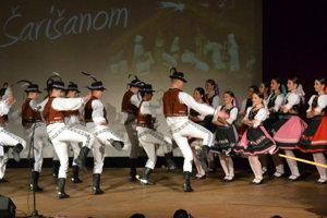 Folklórny súbor Šarišan. 50-ročný kolektív.