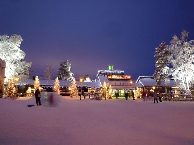 Vianočná dedina v Laponsku