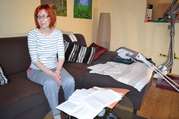 Gabriela Bednárová bojuje so sklerózou multiplex.