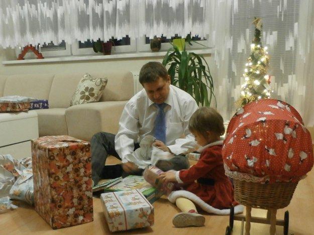 S dcérou Anettkou na Vianoce.