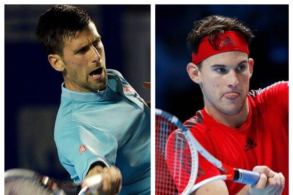 Na turnaji sa predstaví aj Novak Dokovič (vpravo) a Dominik Thiem.