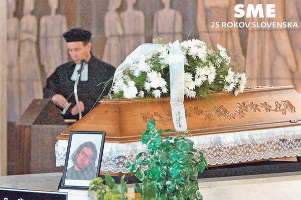 Pohreb Daniela Tupého v Žiline.