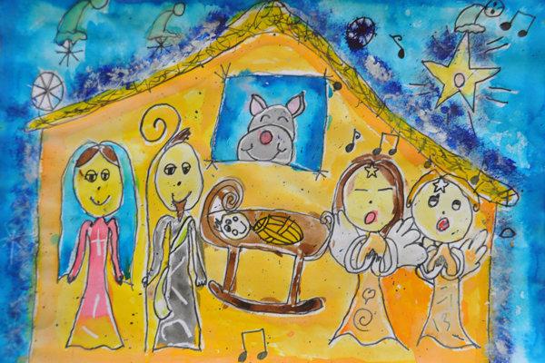 Kresba z projektu Nakreslite nám Vianoce 2017, MY Oravské noviny.