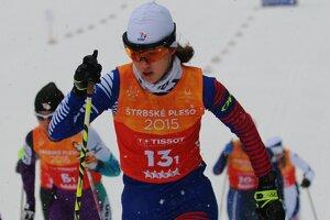 Barbora Klementová na trati.