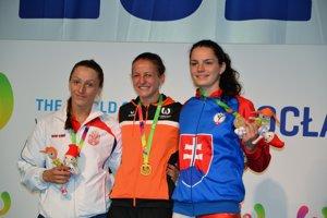 Lucia Cmárová (vpravo) v júli vybojovala vo Vroclave bronz.