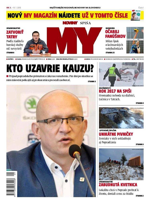 Prvá tohtoročná titulka MY Noviny Spiša.