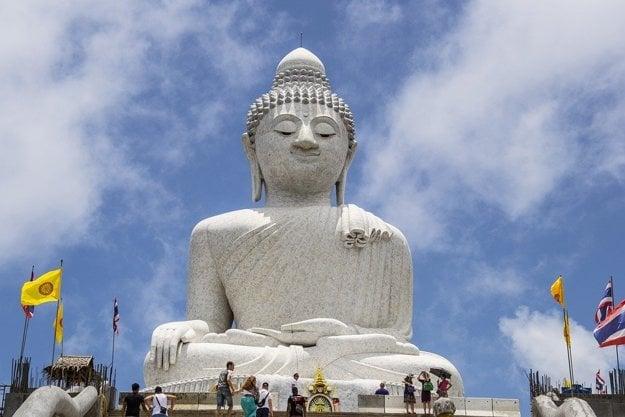 Phuket: Socha veľkého Budhu.