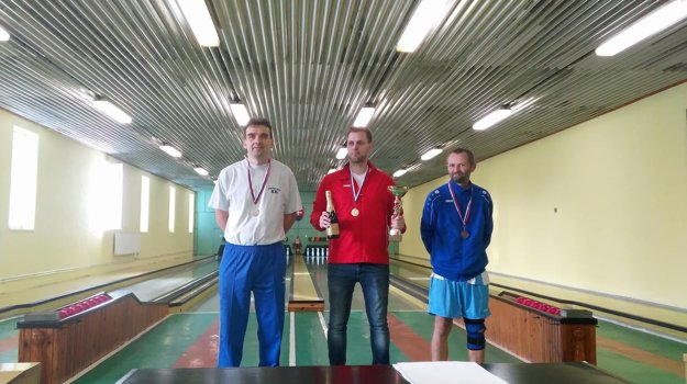 Muži (zľava): Rastislav Pašek (Preseľany), Branislav Bol (Šaľa) a Miroslav Vašečka (Nitra).