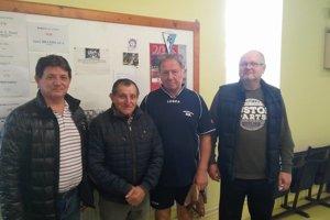 Zľava: Jozef Domanický st., Jozef Bazala, Jaroslav Adamčík a Juraj Šiška.