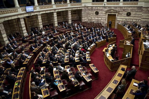 Grécky parlament.
