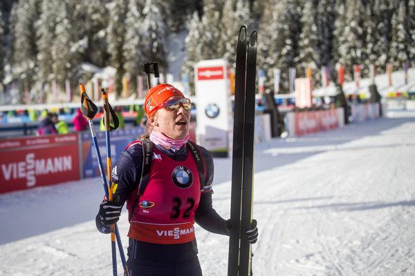 Anastasia Kuzminová v cieli.