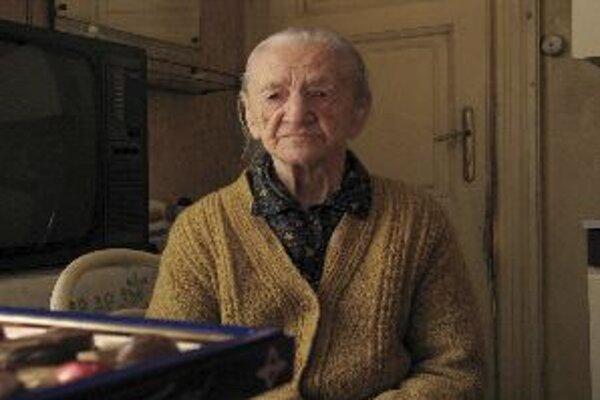 Ľudmila Klátiková v čase, keď mala 102 rokov.