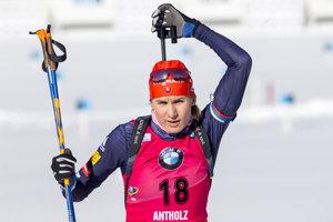 Anastasia Kuzminová počas pretekov.