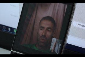 Bývalý príslušník SIS Ľuboš Kosík počas videohovoru z väzenia v africkom Mali.