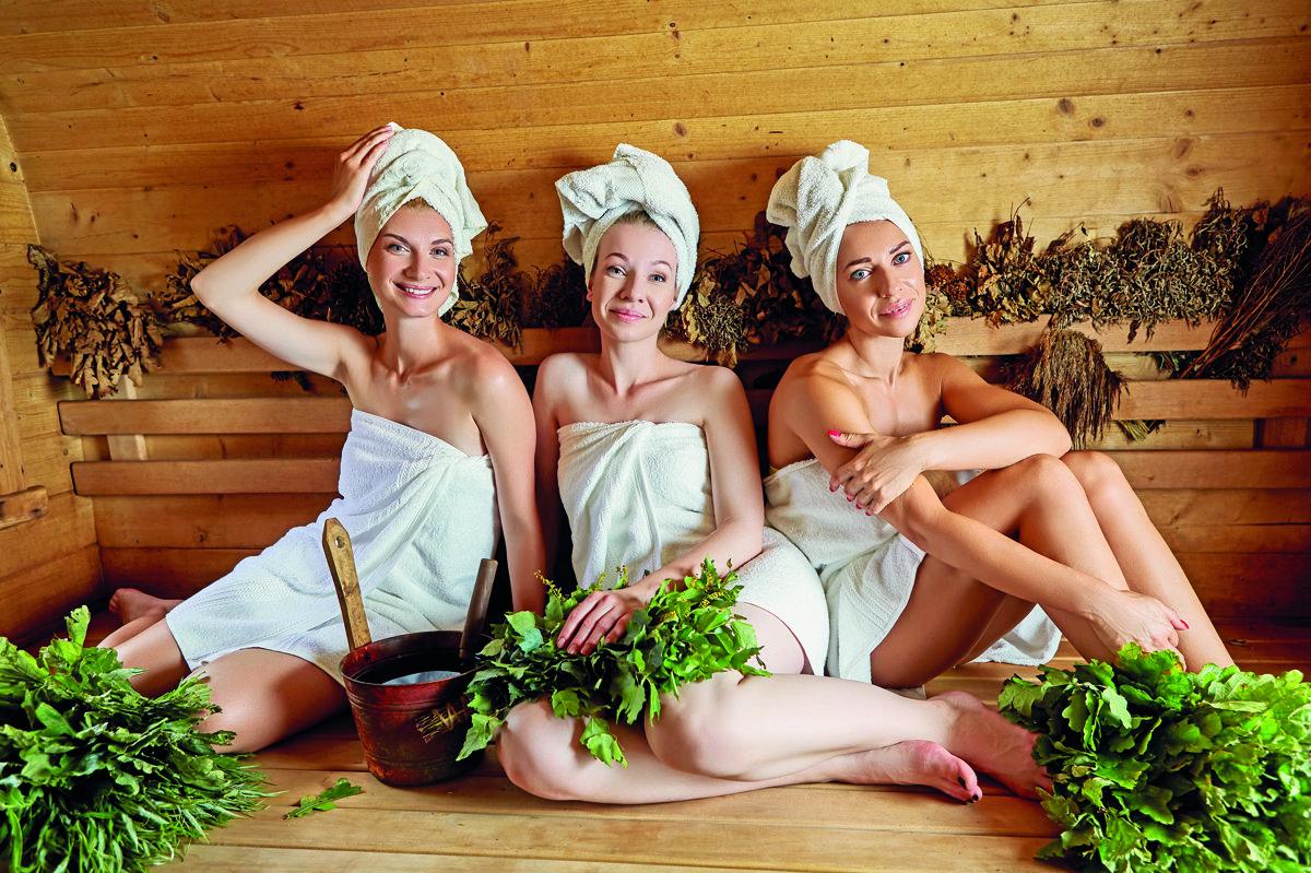 steamiest sauna scene: three girls get racy with each other  173739