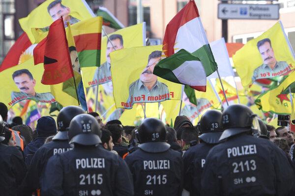 Kurdskí demonštranti, ilustračná snímka.