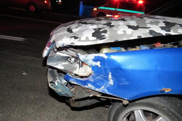 Nehoda opitého vodiča na Dargove.