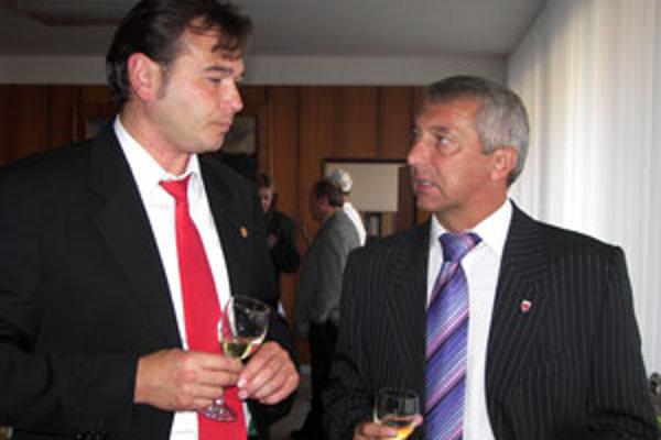 Primátor Miroslav Kusein so svojím zástupcom Jurajom Družbackým.