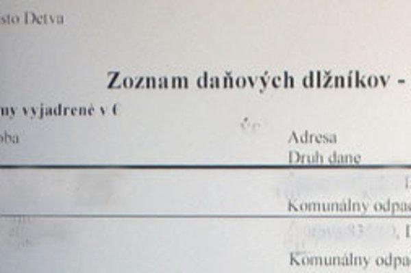 Internetová stránka mesta.