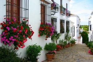 Typické uličky v mestách a dedinách Costa del Sol