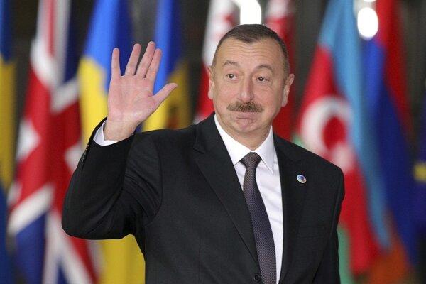 Azerbajdžanský prezident Ilham Alijev v Bruseli.