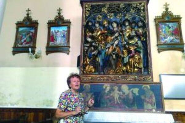 Oltár Majstra Pavla - skvost gotického umenia na Slovensku - v rímsko-katolíckom kostole v Očovej.