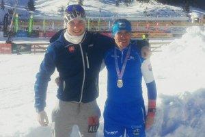 Peter Sitárik (vpravo) sa tešil zo striebornej medaily.
