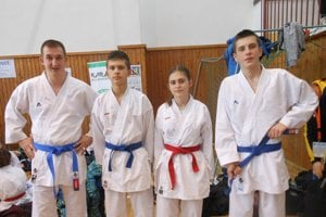 Zľava: Kristián Michalec, Samuel Buchtík, Nikola Buchtíková a Karol Kožák.