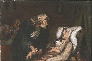 Hypochondria v diele Le Malade imaginaire od francúzskeho umelca Honoré Daumiera.