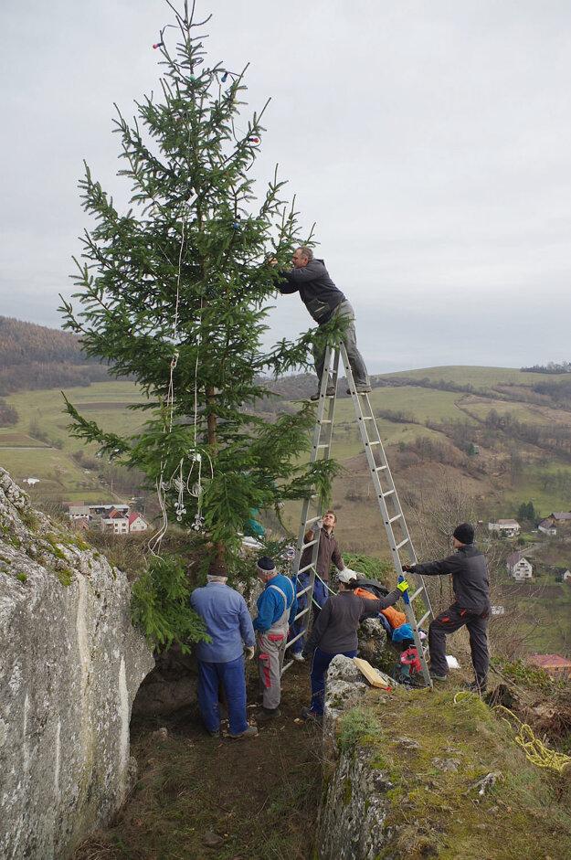 Strom treba na brale poriadne uchytiť. Vetry dujú hore poriadne silné.