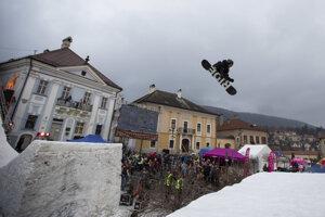 Snowboardista Ľubomír Podrepsek.