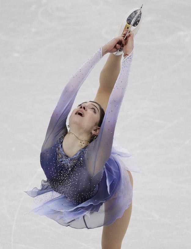 Jekaterina Medvedevová predviedla skvelý krátky program.