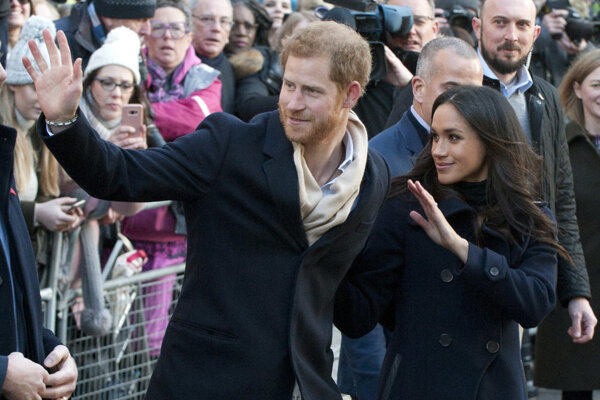Britský princ Harry a Meghan Markleová.