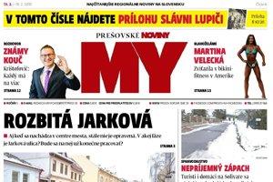 Prešovské noviny. V predaji od 13. do 19. februára.