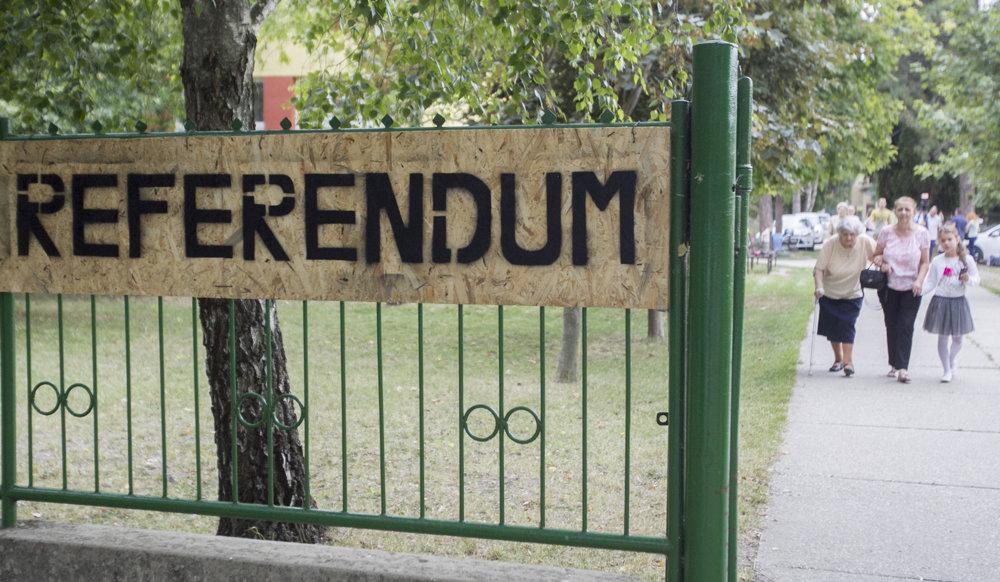 Referendum o utečencoch v Gabčíkove.