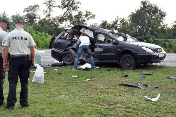 Dopravná nehoda vMichalovciach.