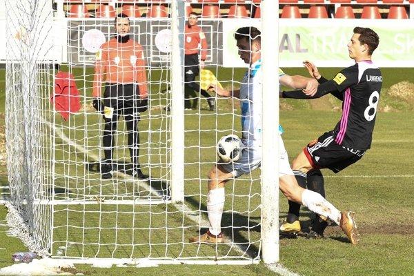 René Kotrík strelil svoj prvý gól vo Fortuna lige naozaj kurióznym spôsobom.