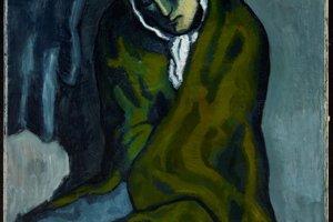 Picassov obraz La Miséreuse accroupie (Skrčená žobráčka).