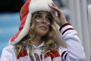 Ruská fanúšička.