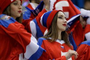 Ruské fanúšičky.