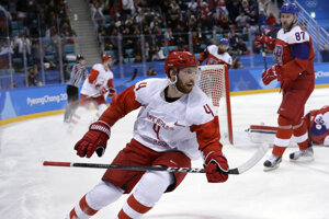 Rus Vladislav Gavrikov sa raduje zo svojho gólu.