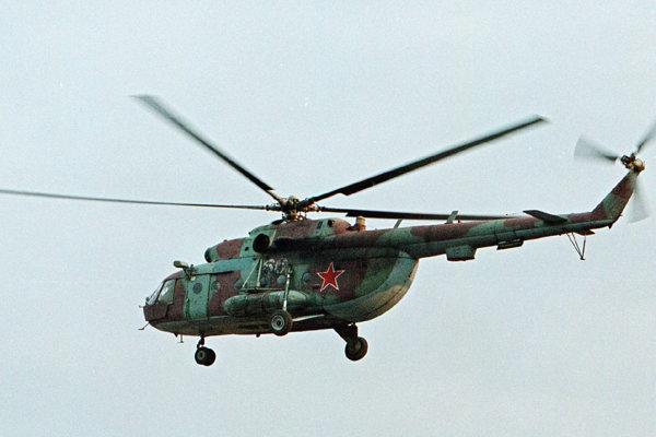 Ruský vrtuľník Mi-8.