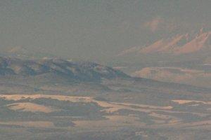 Unikátny uhol pohľadu na 100 km  vzdialenú Smrekovicu v Branisku.