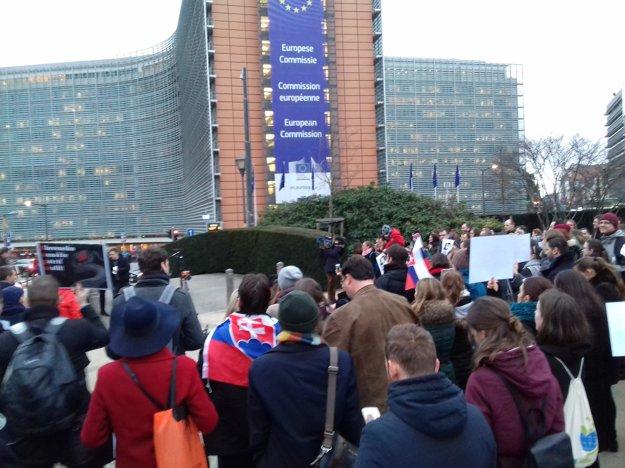 Spomienka v Bruseli.